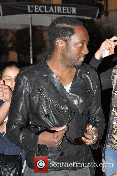 Will.I.Am is seen outside Buddha Bar after performing...