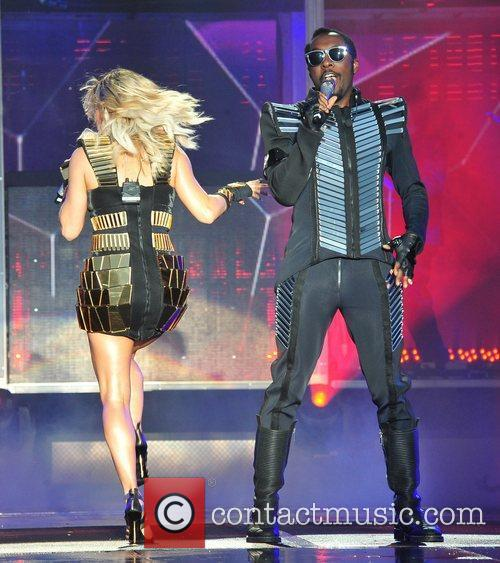 The Black Eyed Peas perform in concert at...