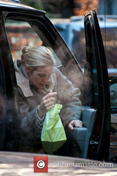 Kelly Rutherford is seen on the set of...