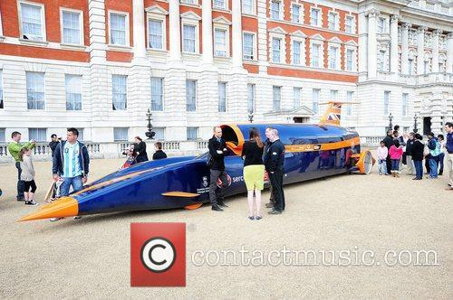 The Bloodhound car on display at the Horse...