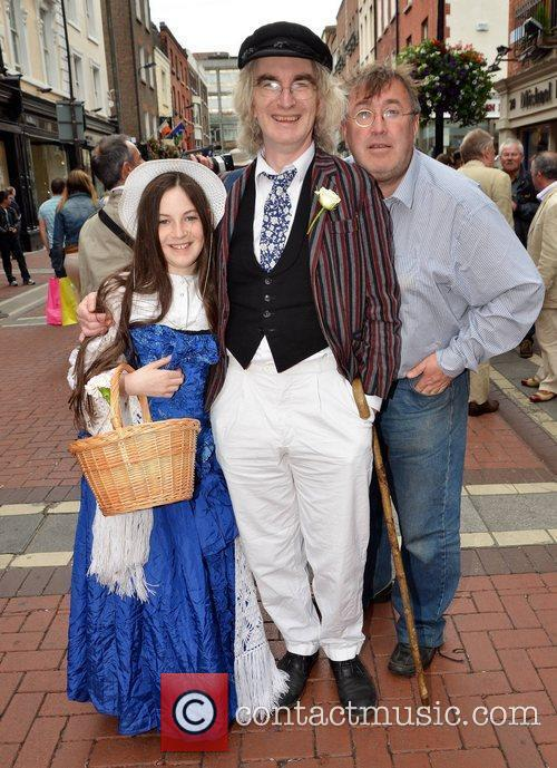 Playwright Gerry Stembridge with Eve Mullen and Philip...
