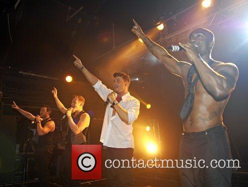 Antony Costa, Duncan James, Lee Ryan, Ryan Duncan and Simon Webbe 11