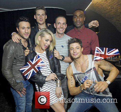 Antony Costa, Duncan James, Lee Ryan, Sheridan Smith and Simon Webbe 5