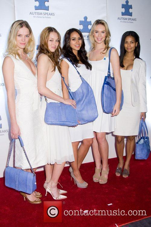 Models A Blue Affair charity reception at the...