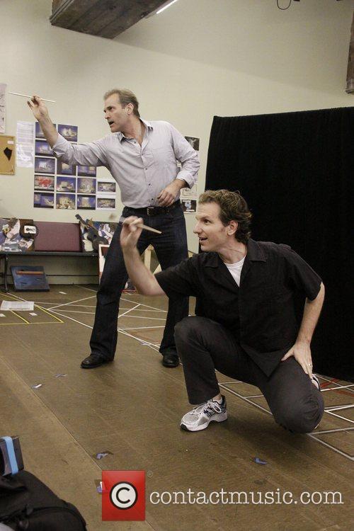 Marc Kudisch and Sebastian Arcelus Open press rehearsal...