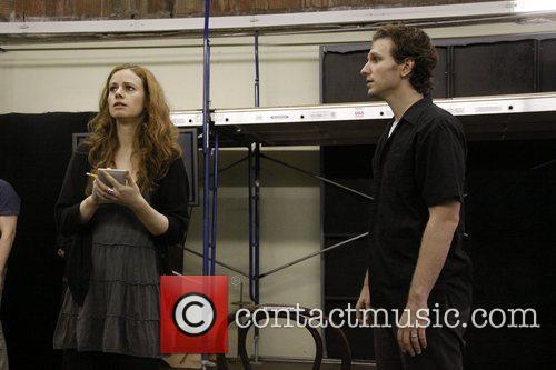 Teal Wicks and Sebastian Arcelus Open press rehearsal...