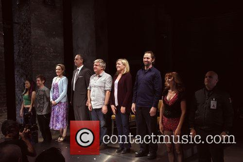 Opening night curtain call for the Atlantic Theater...