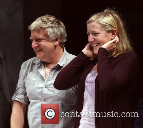 Simon Russell Beale and Mary McCann opening night...