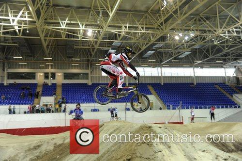 Riders try out the new BMX Centre at...