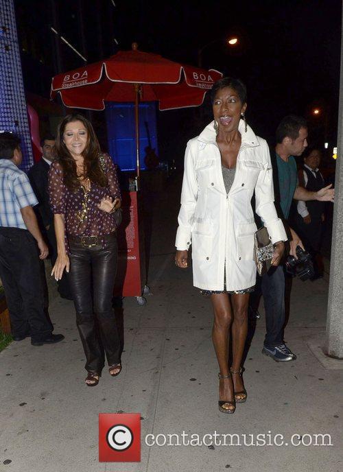 Celebrities outside BOA Steakhouse