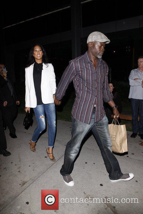 Kimora Lee Simmons and Djimon Hounsou 6