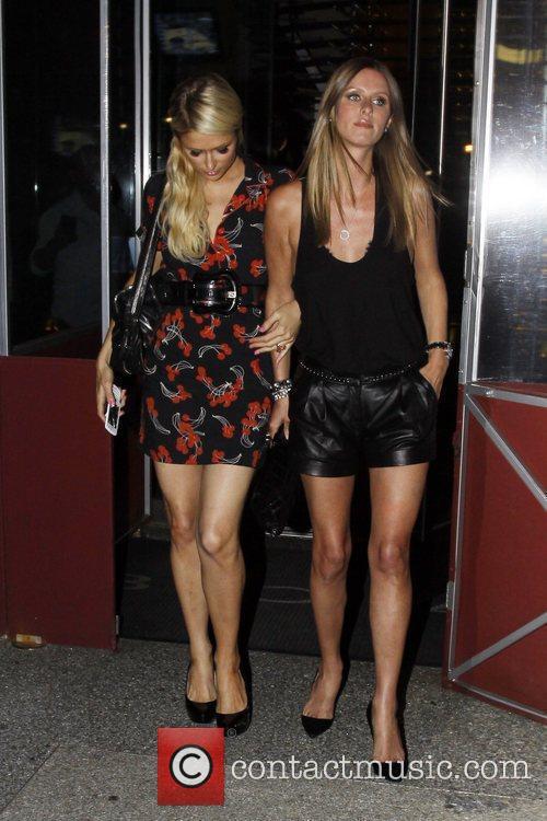 Paris Hilton and Nicky Hilton leave BOA Steakhouse...
