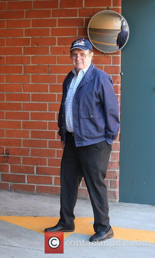 Stand-up comedian Bob Newhart  running errands in...