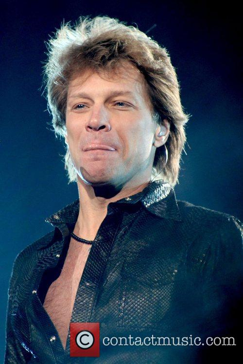 Jon Bon Jovi performing live on stage at...