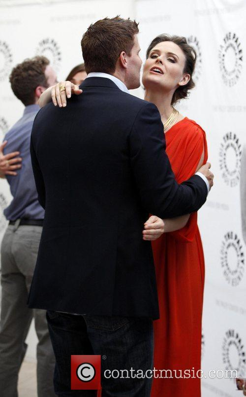 David Boreanaz and Emily Deschanel The Paley Center...