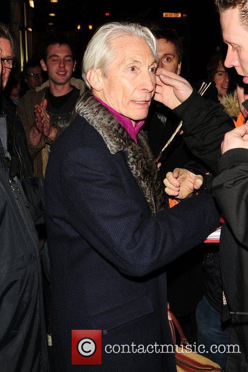 Charlie Watts at a tribute to Ian Stewart...