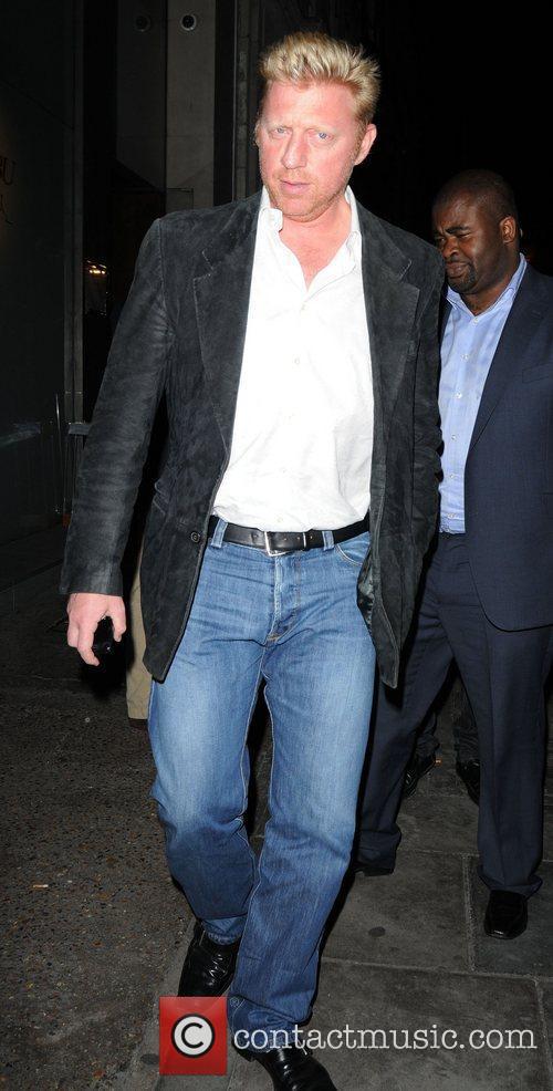Boris Becker leaving Nobu Berkley restaurant  London,...