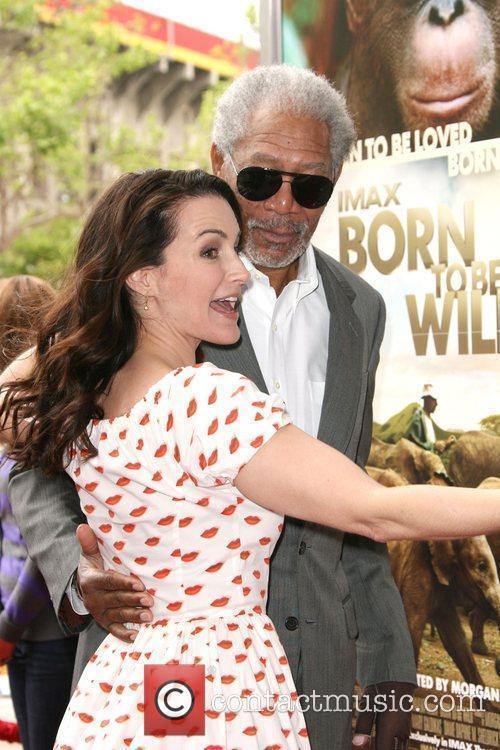 Kristin Davis and Morgan Freeman World premiere of...
