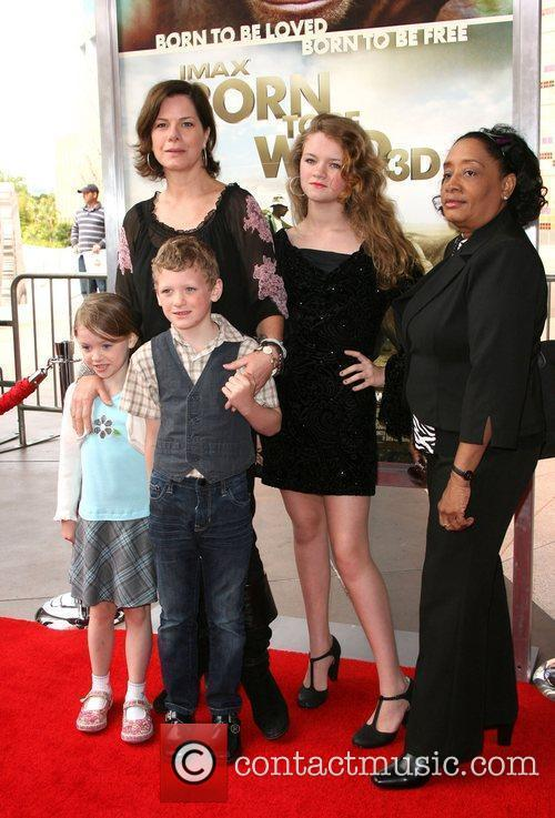 Marcia Gay Harden with children and nanny World...