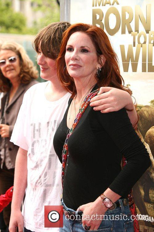 Melissa Gilbert with son Michael World premiere of...