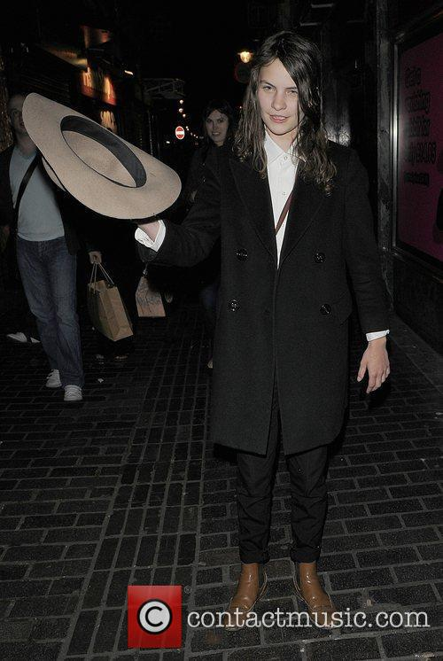Coco Sumner arriving at The Box Club Soho....