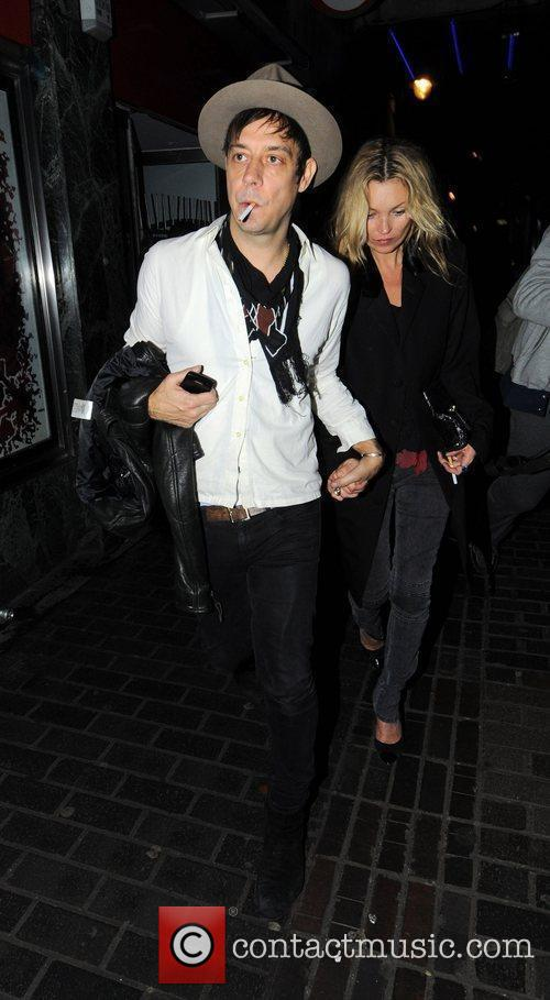 Kate Moss and Jamie Hince leaving The Box...