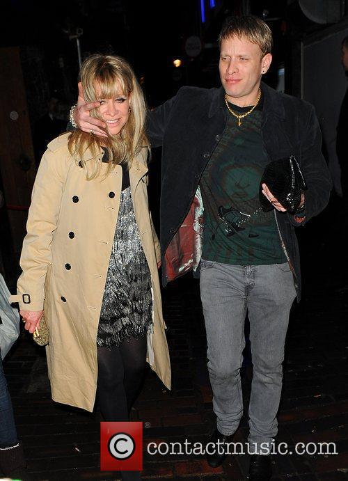 Jo Wood leaves The Box Club in Soho...