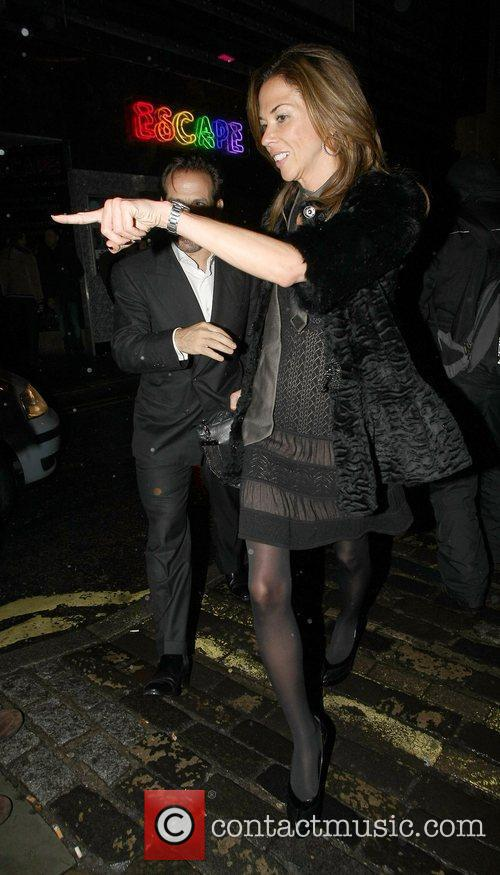 Tamara Beckwith leaves The Box Club in Soho....