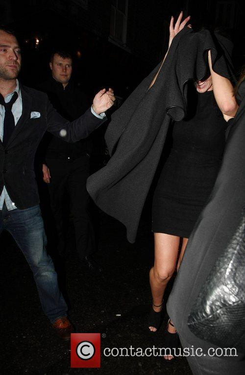 Tom Crane and Sarah Harding  leaving The...