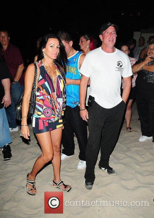Christiana and Michael Lohan at the Celebrity Boxing...