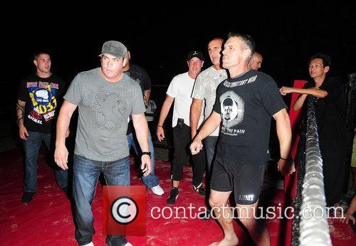 Michael Lohan (C) at the Celebrity Boxing Match...