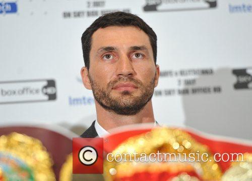 Wladimir Klitschko Wladimir Klitschko and David Haye press...