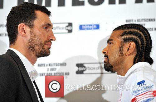 Wladimir Klitschko and David Haye press conference announcing...