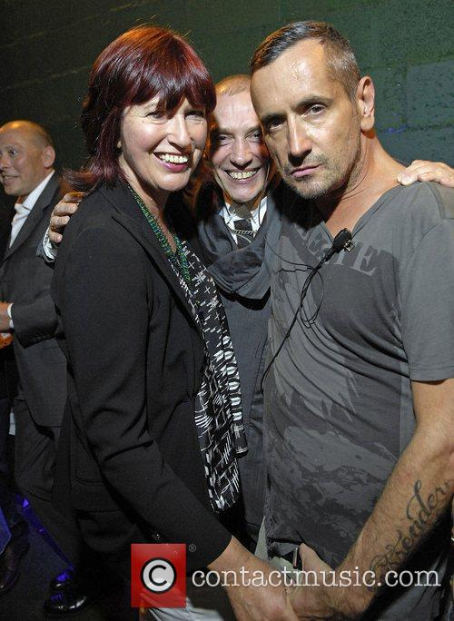 Janet Street Porter, guest and Fat Tony,...