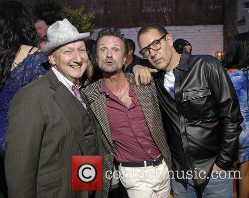 Stephen Jones (left) and guests,  at Boy...