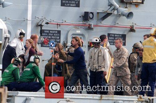 Filming on location, scenes for World War Z,...