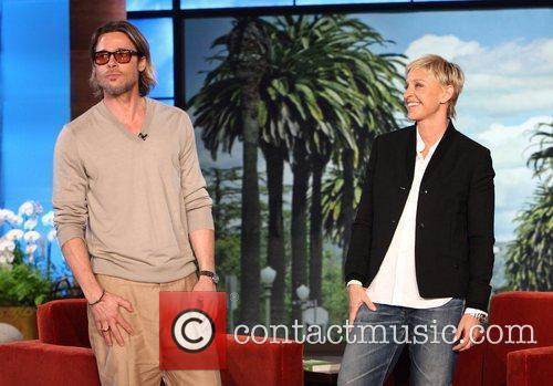 Brad Pitt makes his first in-studio appearance on...