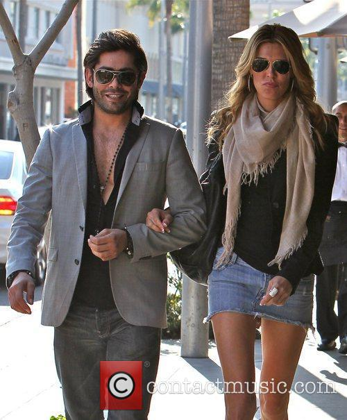 Brandi Glanville and Cedric Martinez  are seen...