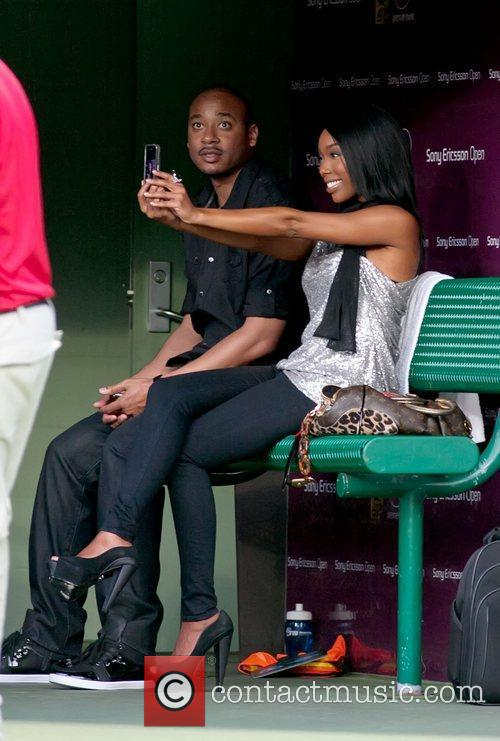 Sitting together during the 2011 Sony Ericsson Open,...