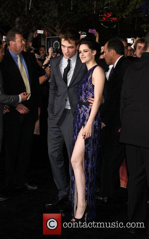 Kristen Stewart and Robert Pattinson at the Breaking Dawn world premiere