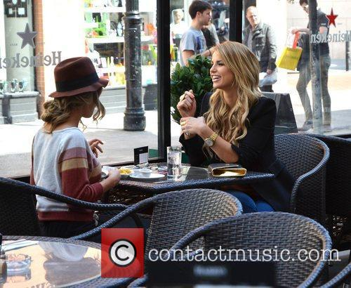 Vogue Williams and Louise Johnston filming scenes for...