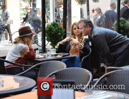 Lousie Johnston, Vogue Williams, Stephen McCormack filming scenes...