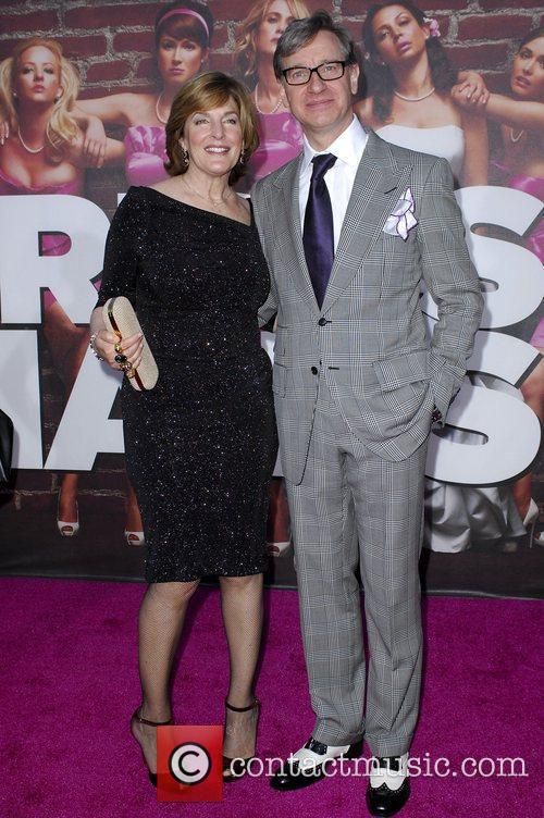 Paul Feig With Wife