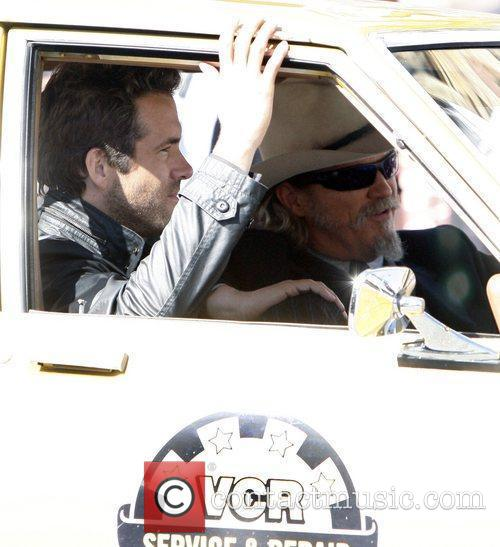Ryan Reynolds and Jeff Bridges are seen on...