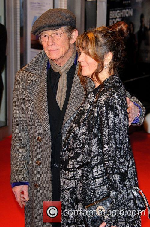 John Hurt and Wife Brighton Rock - UK...