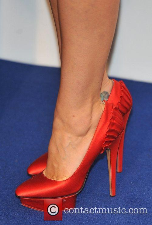 Samantha Cameron's shoes 2011 British Fashion Awards held...