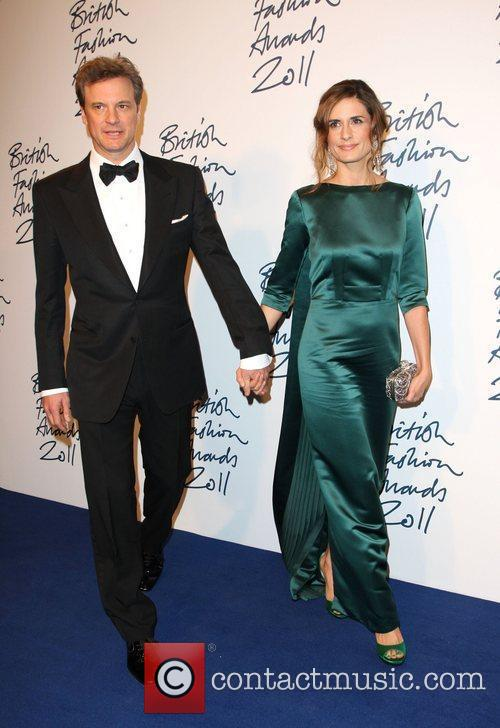 Colin Firth with his wife Livia Giuggioli The...