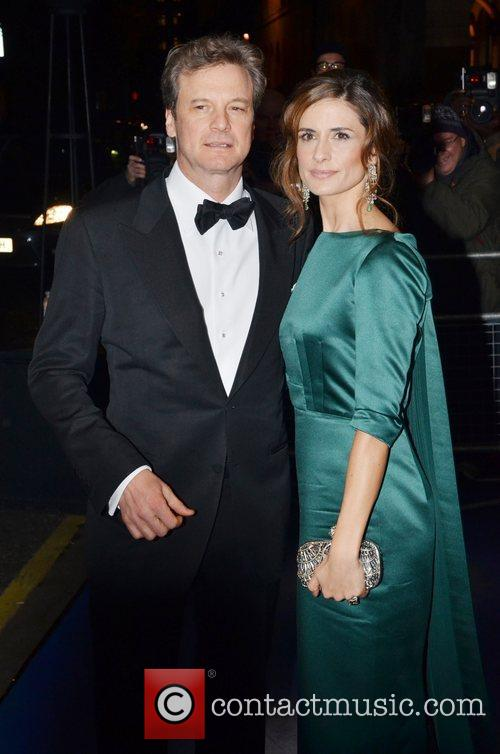 Colin Firth and Livia Firth 2011 British Fashion...