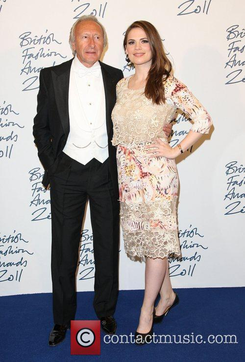 Harold Tillman and Hayley Atwell British Fashion Awards...