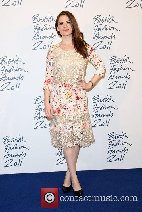 Hayley Atwell British Fashion Awards 2011 held at...